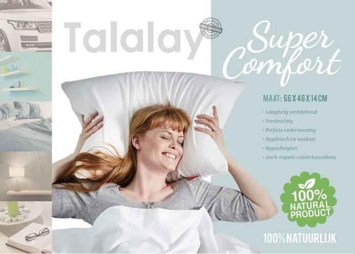 talalay latex hoofdkussen 100 procent natuurlijk inlay